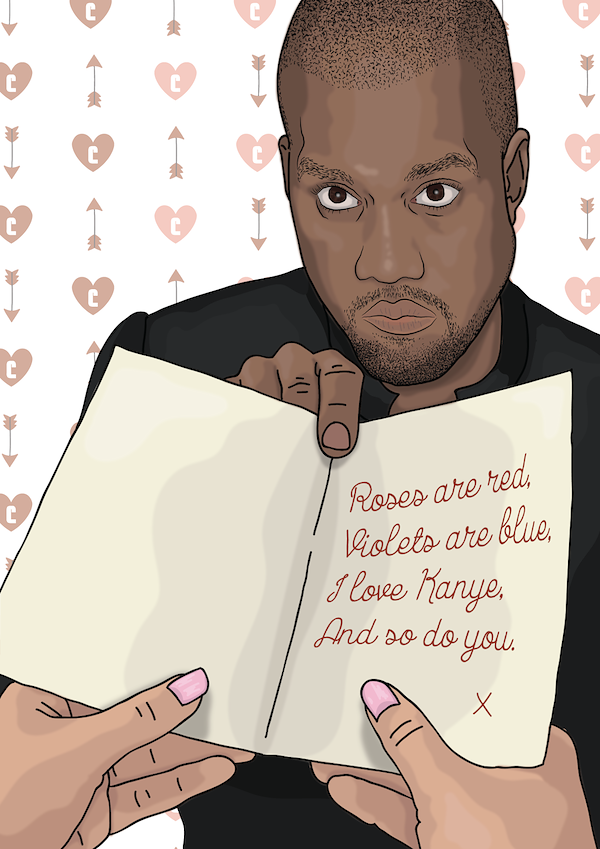 say 'i love you' with a kanye west valentine's day card