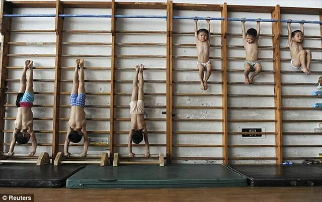 Chinese Children Training To Become Olympic Athletes - 09.