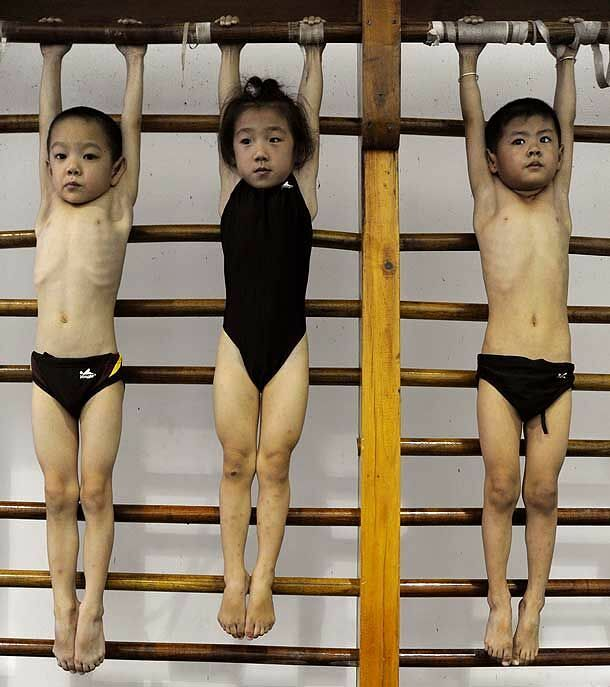 Chinese Children Training To Become Olympic Athletes - 11.
