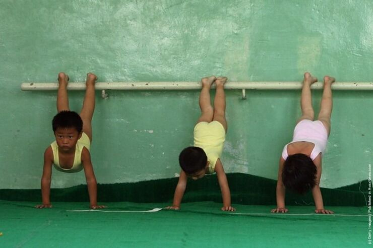 Chinese Children Training To Become Olympic Athletes - 15.