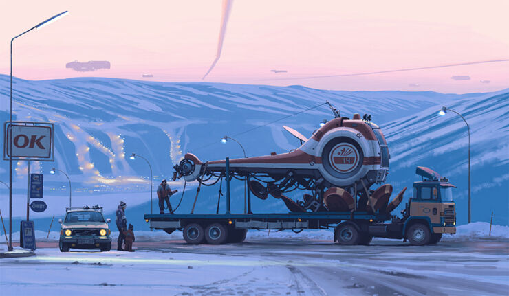 Welcome To Sci-fi Suburbia - Simon Stålenhag's Futuristic Transformations Of Mundane Landscapes