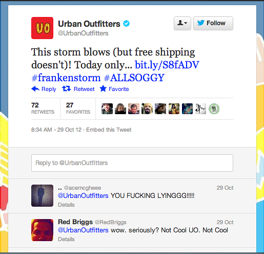 urban-outfitters-also-tweeted-about-frankenstorm-touting-free-shipping-all-you-have-to-do-is-type-all-soggy