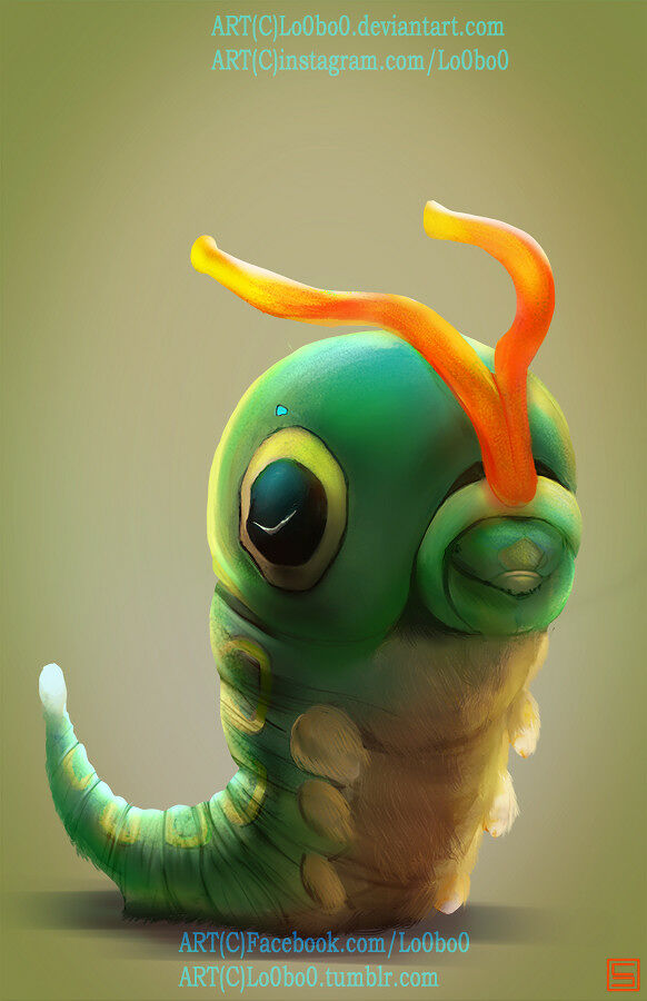 sergio-palomino-pokemon-project-010-caterpie-bylo0bo0