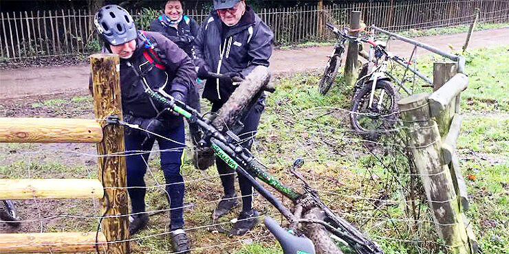 Hilarious! How Many British Men Does It Take To Remove A Bike Caught On An Electric Fence?