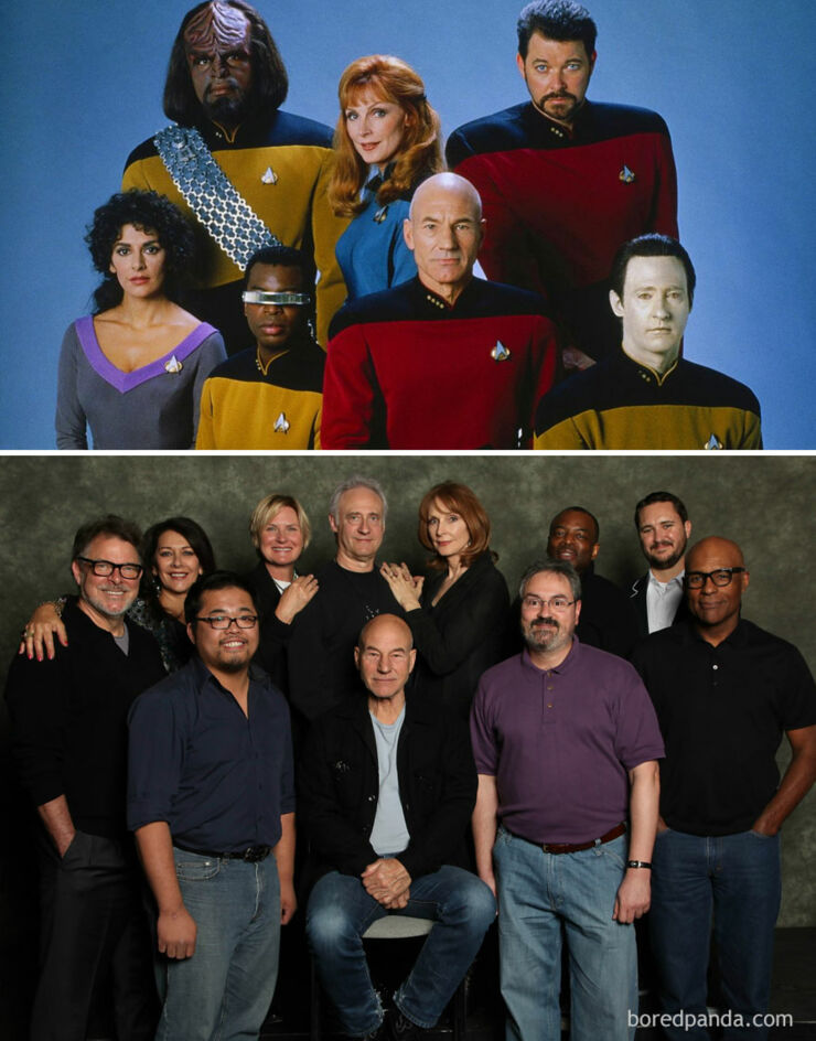 Tv & Movie Cast Reunions - Star Trek- The Next Generation 1987 Vs. 2012