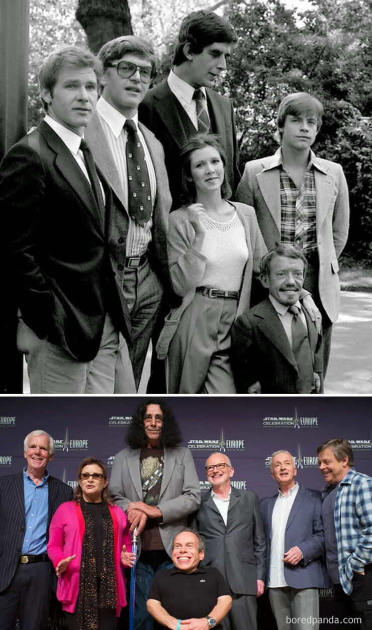 Tv & Movie Cast Reunions - Star Wars- 1980 Vs. 2013