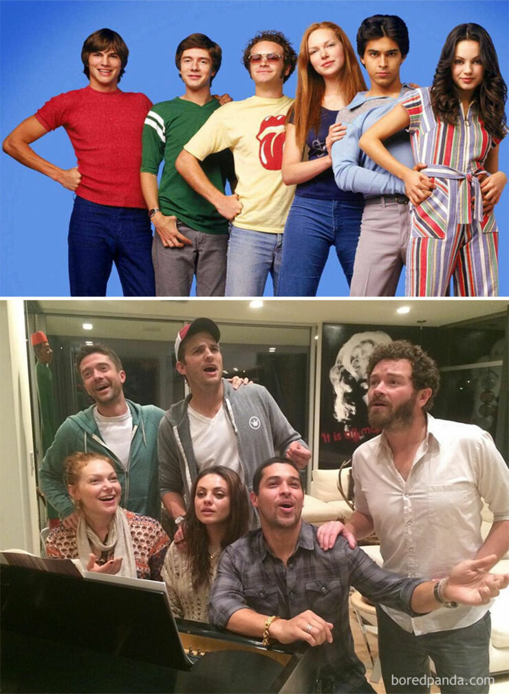 Tv & Movie Cast Reunions - That '70s Show- 1998 Vs. 2013