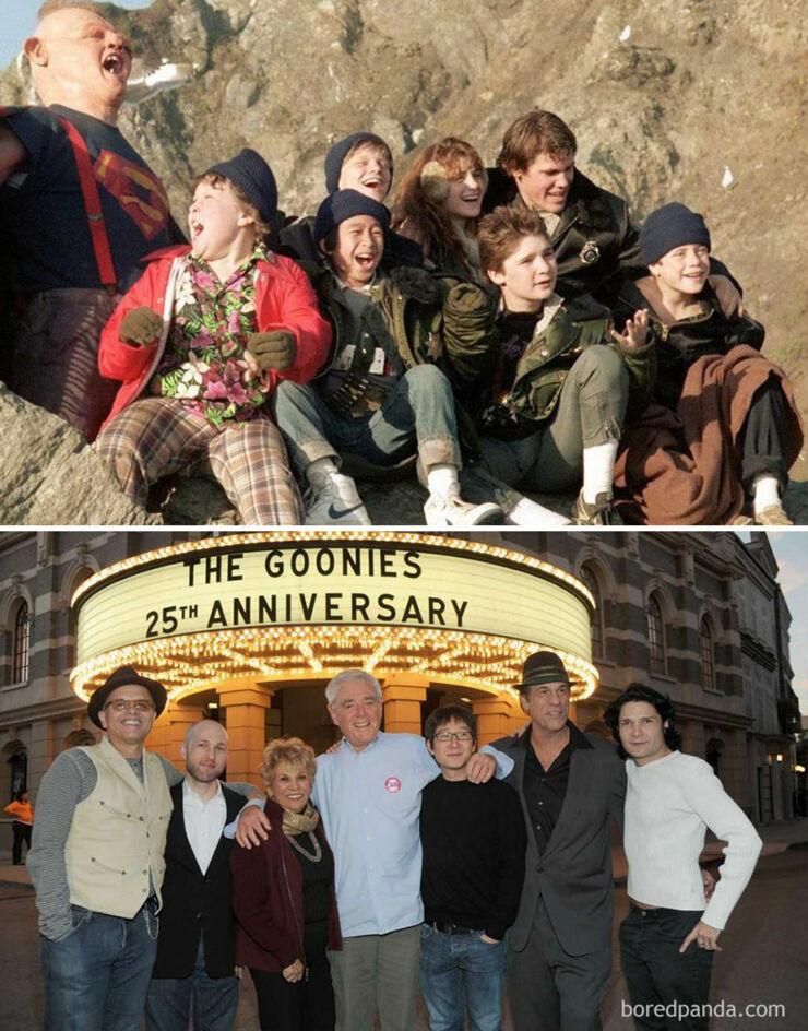 Tv & Movie Cast Reunions - The Goonies- 1985 Vs. 2015