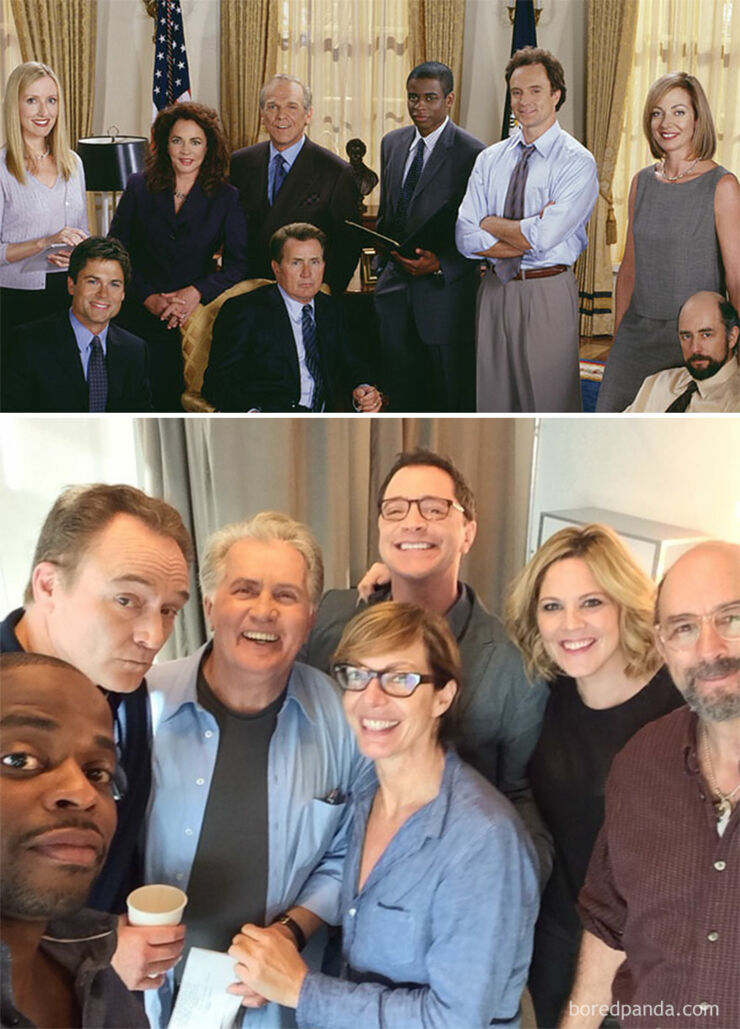 Tv & Movie Cast Reunions - The West Wing- 1999 Vs. 2015