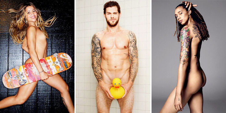 ESPN Body Issue: The Naked Athletes 2015.