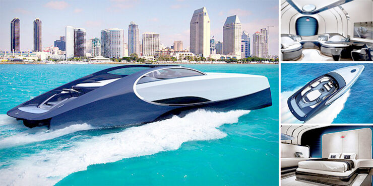 Bugatti Yacht is A Chiron Inspired $2.2 Million Super Yacht.