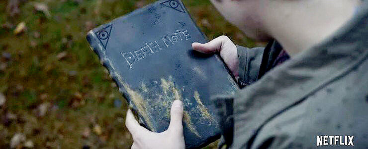 Death Note movie – Light Turner picks up the supernatural notebook dropped by Ryuk - 13.