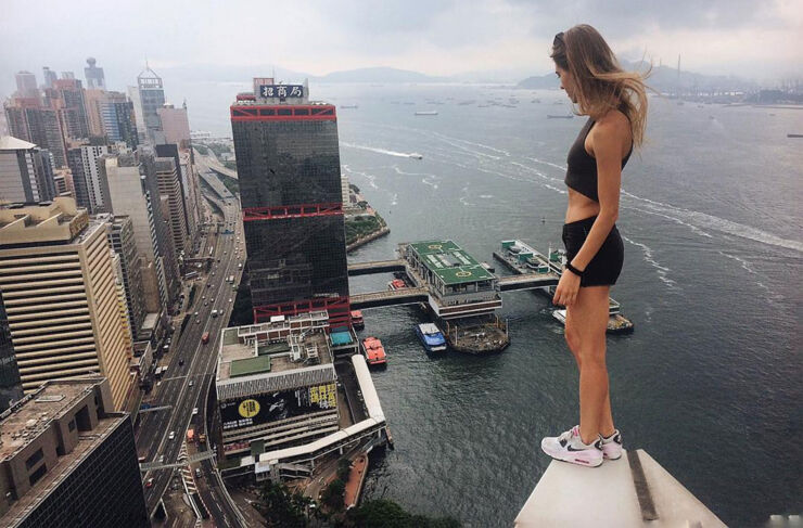 Angela Nikolau Is An Crazy Roofing Daredevil  - 33.