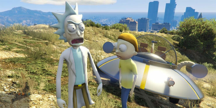 Rick and Morty GTA 5 Mod Feature.