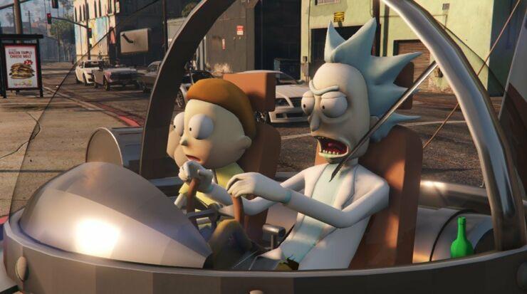 GTA 5 MOD - Mr. Poopybutthole (Rick and Morty) - YouTube