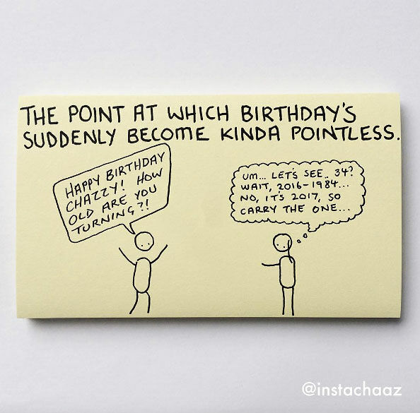 Chaz Hutton Creates Funny Sticky Notes Summarizing The Pains Of Adulthood - 02.