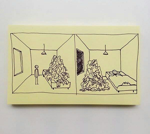 Chaz Hutton Creates Funny Sticky Notes Summarizing The Pains Of Adulthood 10.