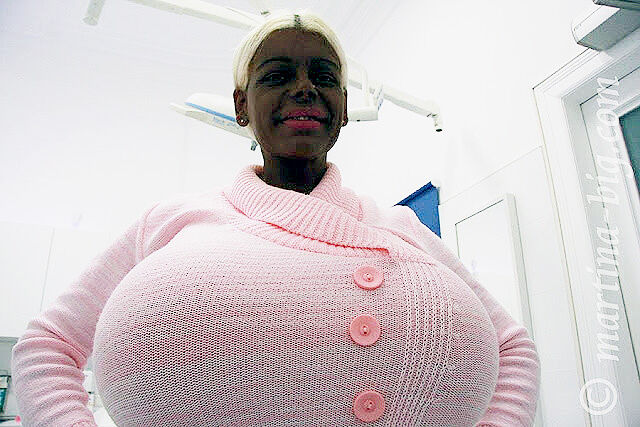 Martina Big The Tanning Addict Model largest boobs Tan 05.