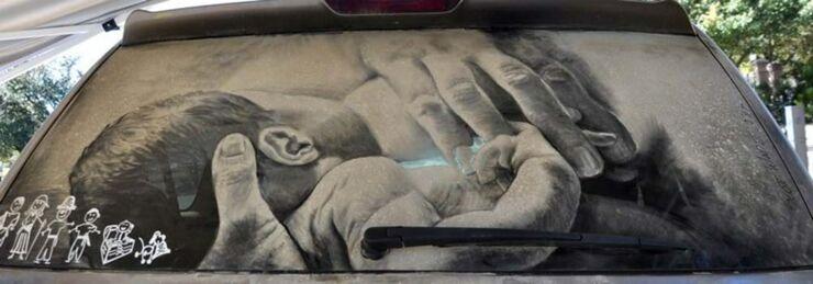 Amazing Dirty Car Art