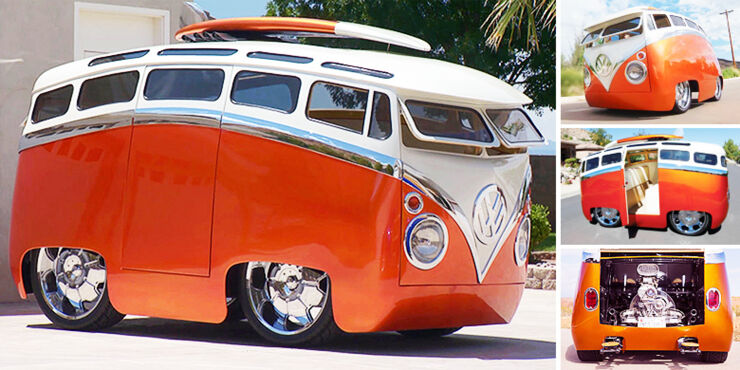 Ron Berry 1965 Cartoon Custom VW Bus Surf Seeker.