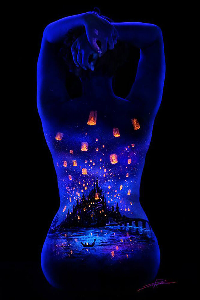 John Poppleton blacklight body paint 22.