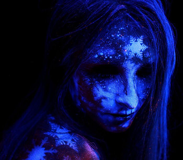 John Poppleton Uses Blacklight Body Paint To Create Uv Art