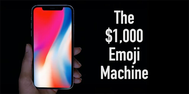 Apple iphone x parody.