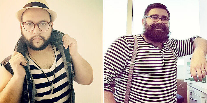 Oversized Men Fashion Tricks You Can Use Avoid Horizontal Stripes.