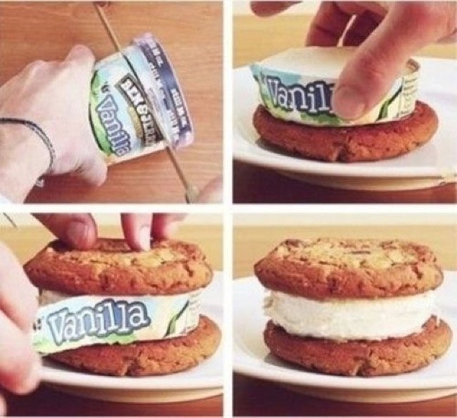 The easiest way to make an ice cream sandwich (8 of 50)