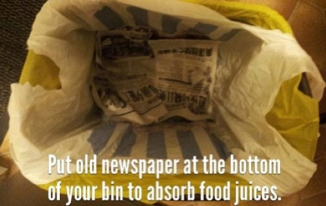 How to get rid of smelly lpools of liquid from your bin (13 of 50)