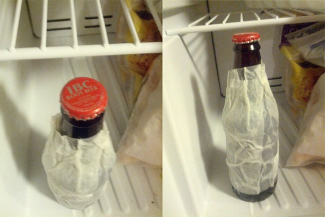Wrap a wet paper towel around beer, and put it in the freezer to cool in just 2 minutes (17 of 50)