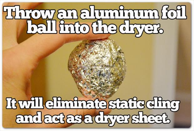 Aluminium foil will cure static in a dryer (46 of 50)