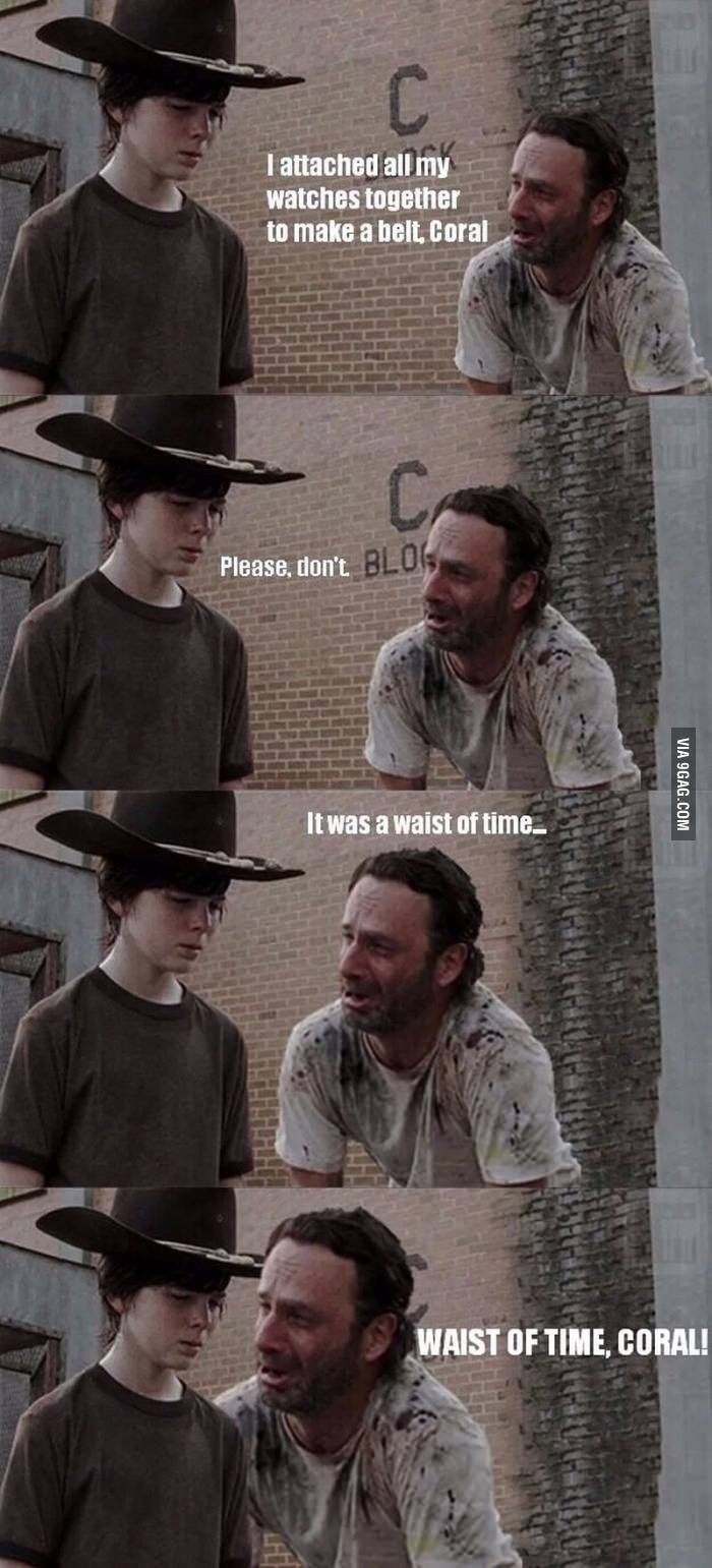 The Walking Dead Dad jokes 25.