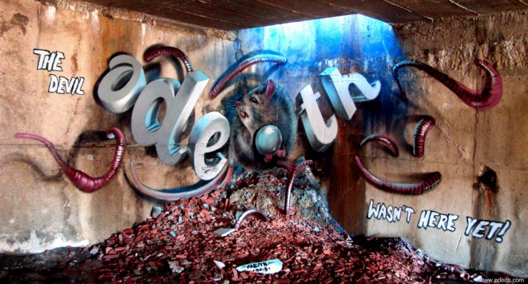 anamorphic 3D Graffiti 03.