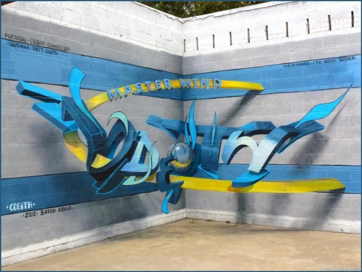anamorphic 3D Graffiti 04.