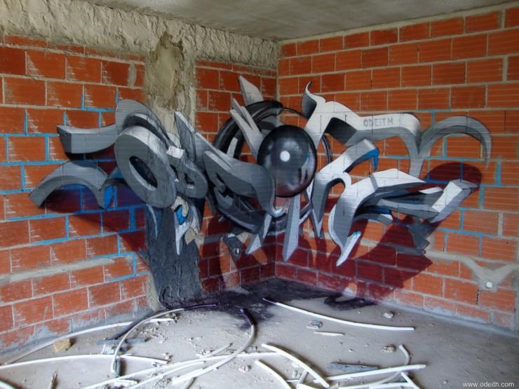 anamorphic 3D Graffiti 01.