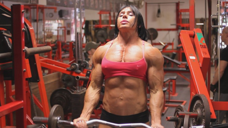 Female bodybuilders clitoris testosterone