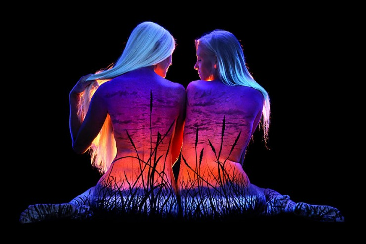 John Poppleton blacklight body paint 26.