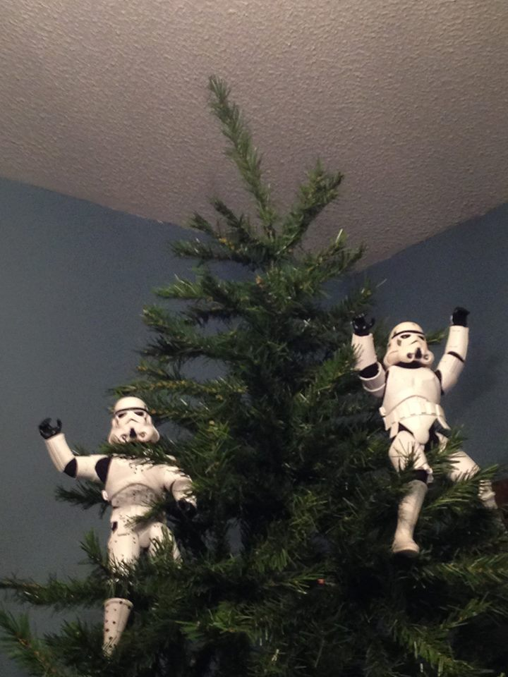 Stormtroopers put up the xmas tree 15