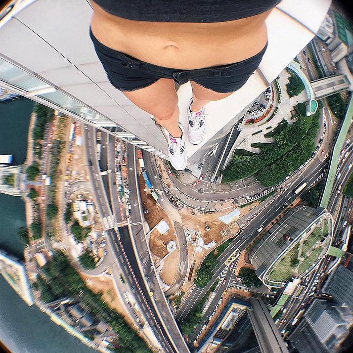 Angela Nikolau Daredevil Roofer Selfies - 00.