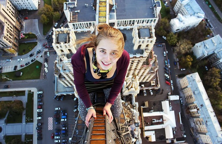 Angela Nikolau Daredevil Roofer Selfies - 27.