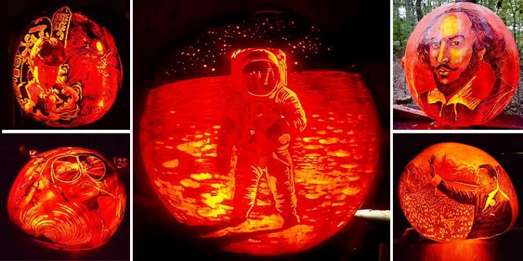 edward cabral s pumpkin artwork puts your jack o lantern to shame