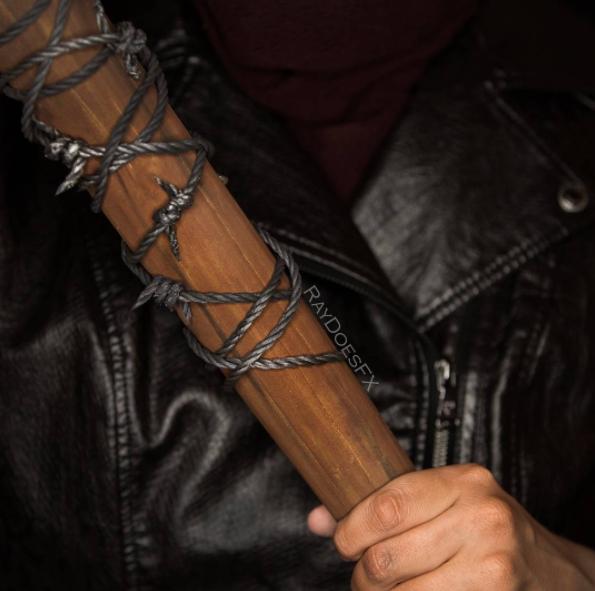 The Walking Dead makeup tutorial Negan 02.