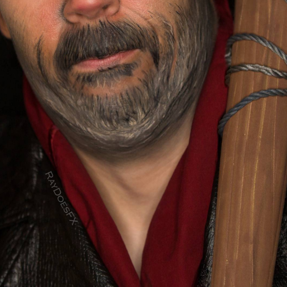 The Walking Dead makeup tutorial Negan 03.
