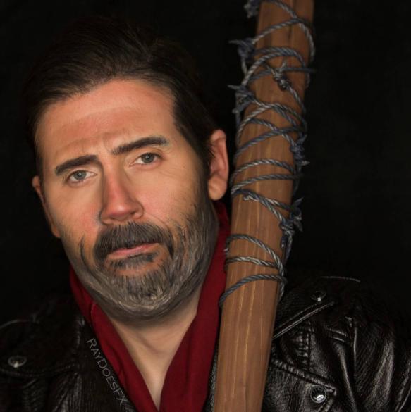 The Walking Dead makeup tutorial Negan 04.