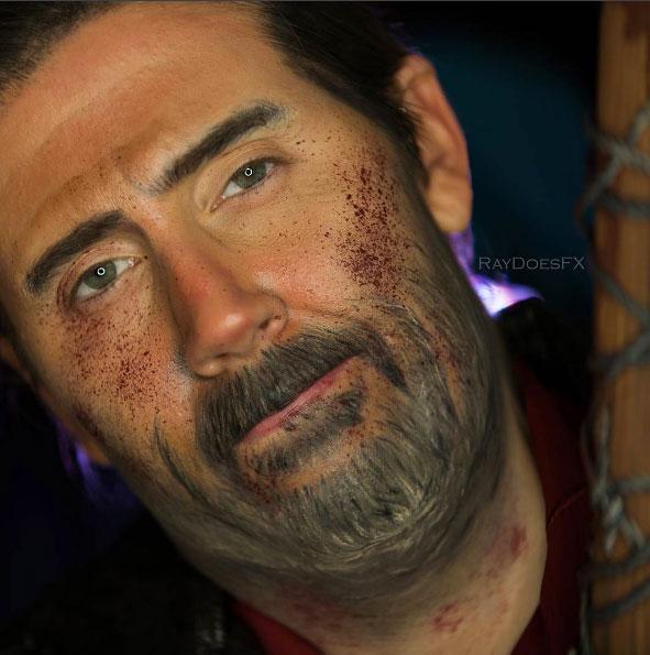 The Walking Dead makeup tutorial Negan 05.