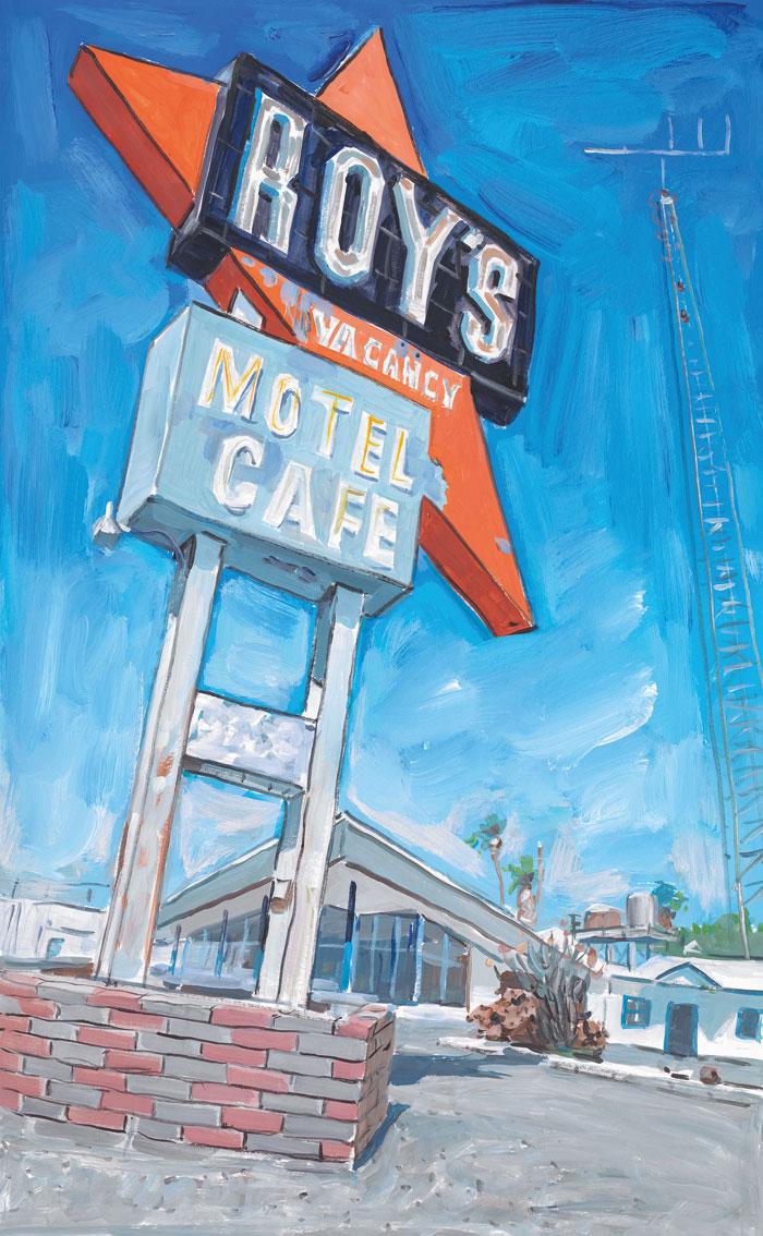 Abandoned-Motel,-Eureka,-2015–2016.-Watercolour-on-paper,-91.8-x-65