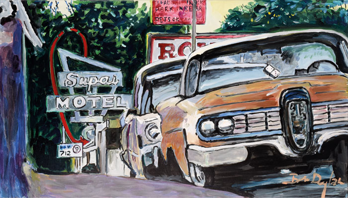 Classic-Car-Show,-Cleveland,-Ohio,-2015–2016.-Acrylic-on-canvas,-71.1-x-121