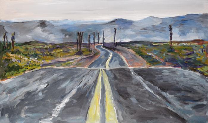 Endless-Highway-1,-2015–2016.-Acrylic-on-canvas,-71.1-x-121