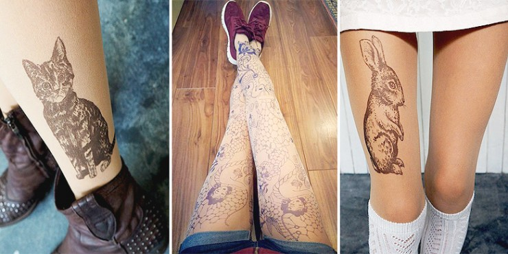 tattoo tights tatul etsy.